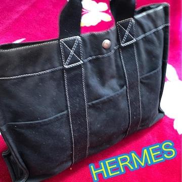 正規品HERMES♪人気のブラック☆ドーヴィル☆