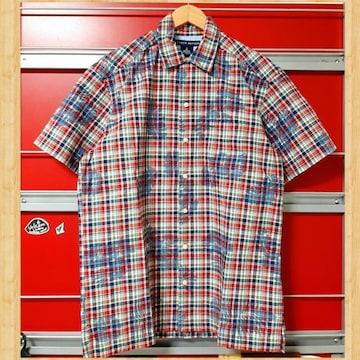 TOMMY HILFIGER トミーヒルフィガー カラフルチェックシャツ M 美品