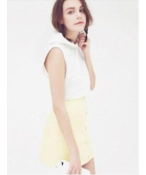 人気完売★エモダ★Aラインカラースカート ホワイト/M 新品タグ付 未開封 EMODA