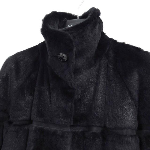 MaxMara STUDIO マックスマーラ ラパン ファー コート 40 毛皮 < ブランドの