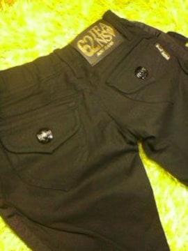 ●RONI●ブラックライン ブラックpants22-23(120前後)未使用