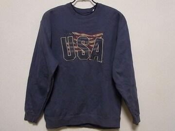 即決USA古着●鮮やかロゴデザインスウェット!アメカジ・ヴィンテージ・レア