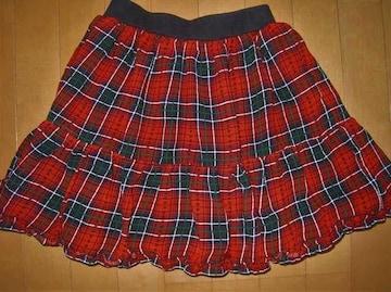 美品★チェック柄 ふりふりスカート♪160�p
