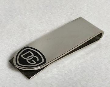 正規 ドルチェ&ガッバーナ DGロゴマネークリップ黒×クローム 財布 ウォレット 名刺入れ
