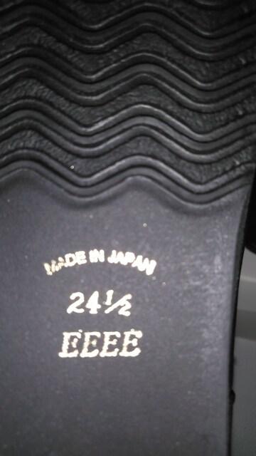 送料込み!ミスキョウコ24.5cm黒×グレー本革スエードブーツ新品 < 女性ファッションの