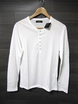 ☆ZARA/ザラ 切り放し加工 ロングTシャツ/メンズ・M/ホワイト☆新品