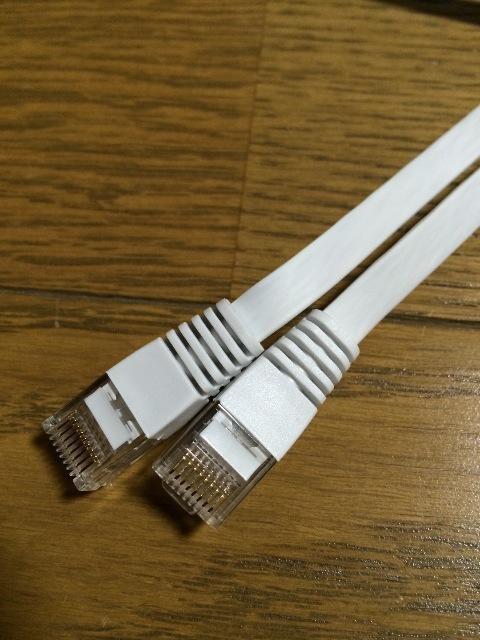 Lanケーブル フラットタイプ ホワイト 未使用 新品