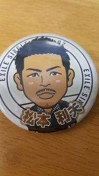 松本利夫★マツ★EXILE 缶バッチ