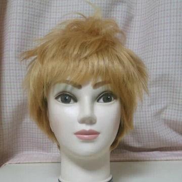 耐熱 ベリーショート カール ウィッグ ゴールド コスプレ 短髪
