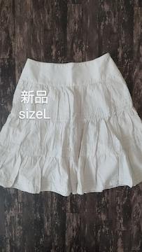 [新品]sizeL/春夏/薄手/膝丈スカート/nissen//