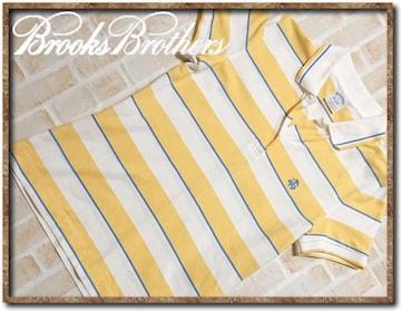 ブルックスブラザーズ 刺繍入りボーダー半袖ポロシャツ