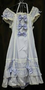 BABY☆ラベンダー☆3つリボンジャンパースカート