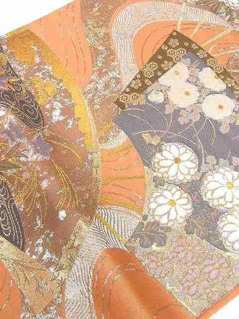 送料無料 仕立上がり 西陣・山下織物謹製 正絹袋帯 未使用品 < 女性ファッションの