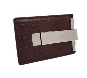 正規新品同様グッチレザーカードケースマネークリップG
