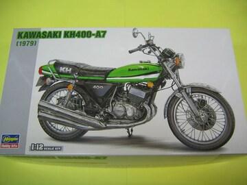 ハセガワ 1/12 BK-6 カワサキ KH400-A7 ケッチ ライムグリーン