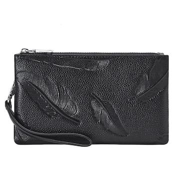 クラッチバック 本革 高級牛革 財布として併用可能