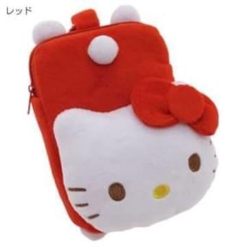 【キティ】可愛い携帯スマホ.デジカメ.お菓子.小物入れに♪カラビナポーチ