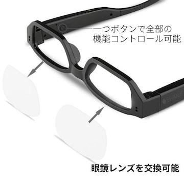 メガネ カメラ 1080P高画質 眼鏡 スパイ 16G