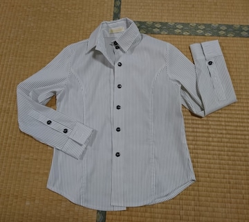 ストライプシャツ◆白×黒◆