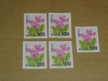 未使用 100円切手 5枚 普通切手