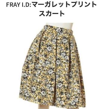 ◆FRAY I.D/フレイアイディー◆マーガレットプリントスカート★イエロー0*秋コーデ♪泉里香