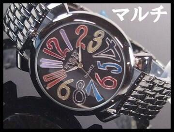 人気★T&Hメンズ腕時計メタルウォッチ★マルチ