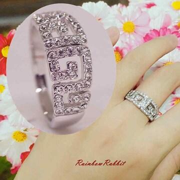 指輪 18K RGP プラチナ 高級 CZ 上品 リングyu1071e