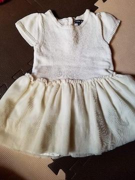 BabyGAP 半袖ニットワンピ 90