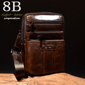 ◆牛本革 ビンテージデザイン 2WAYボディバッグ ショルダー◆k28