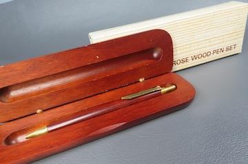 ROSE WOOD PEN SET 木製ボールペン 木製ケース付
