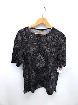 LAD MUSICIAN(ラッドミュージシャン)総柄TシャツクルーネックTシャツ