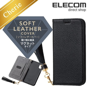 ★ELECOM iPhoneXS,Xケース ソフトレザーカバーレディース