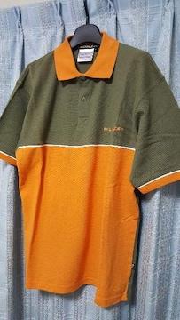 おしゃれなポロシャツ★カーキ&オレンジ色★Lサイズ新品