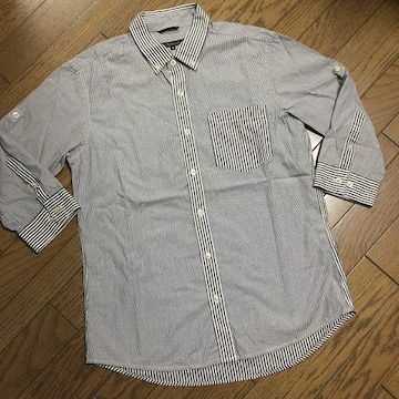 美品UNITED ARROWS デザインストライプシャツ アローズ