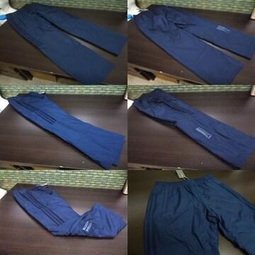 S 紺)アディダス ウィンドブレーカーパンツ DUQ94 中綿入りロングパンツ adidas