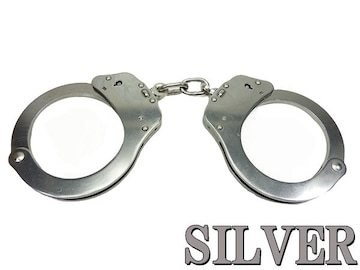 手錠 高強度 スタンダード ノーマル シルバー ハンドカフ ポリス 警察 護身