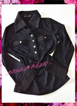 。*・◆襟付きトップス〃ブラックカラー◆・*。