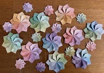ハンドメイド 折り紙 花 40枚 壁面飾り