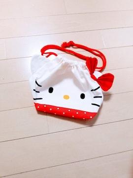 新品◆HELLO KITTY◆キティちゃん お弁当袋 巾着袋 給食袋