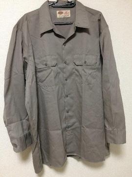 ディッキーズ ワークシャツ nicaragua製 グレー