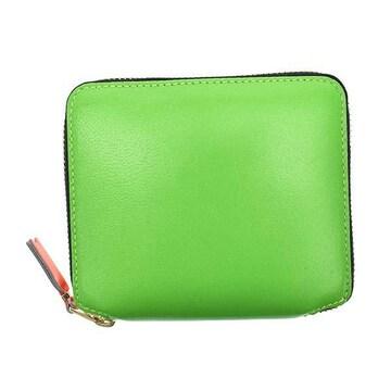 ◆新品本物◆コムデギャルソン SUPER FLUO 2つ折財布(GR)『SA2100SF』