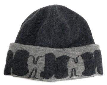 新品同様正規エルメスニット帽ニットキャップHロゴ帽子グ