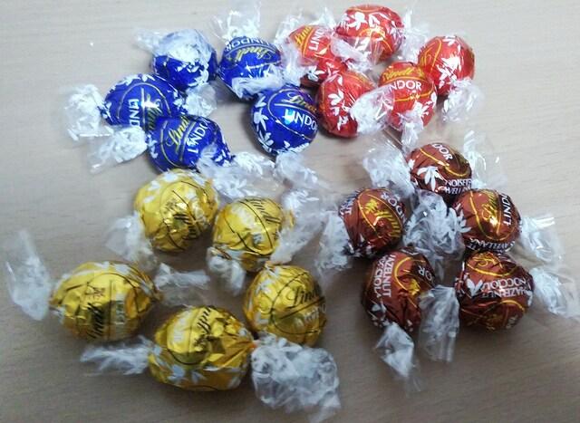 即決★お試し★高級チョコレート リンツ リンドール 一個  < グルメ/ドリンクの