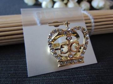 新品GUESSゴスロリ姫系ラインストーン王冠クラウンリング13号