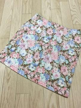 N265/ARROW/新品/ピンク/花柄/スカート/