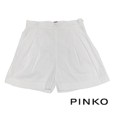 新品ピンコ コットンレース ショートパンツ 白 #40 PINKO
