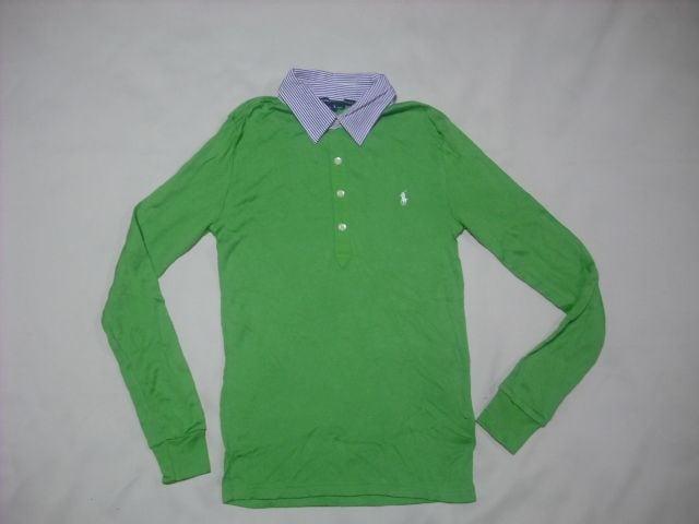 wr535 女 Ralph Lauren ラルフローレン 長袖ポロシャツ Sサイズ  < ブランドの