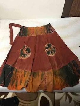 アジアン maraika 好 タイダイ 染め 巻きスカート