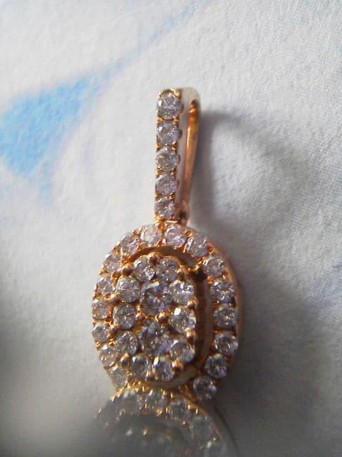 美品超豪華ダイヤ1カラット18金ピンクゴールドネックレストップ < 女性アクセサリー/時計の