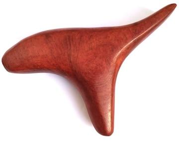 ツボ押し棒 持ちやすく押しやすい特殊な形の天然木マッサージ棒